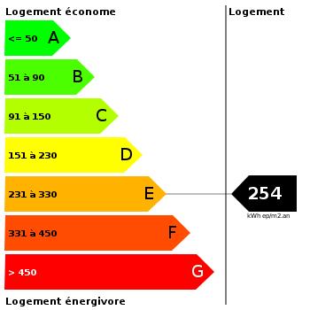 Diagnostic de performance énergétique : 254