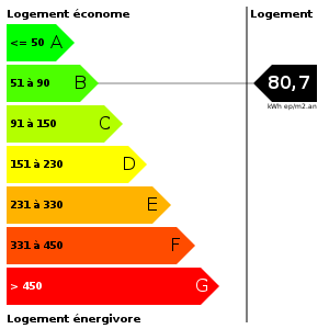 Consommation d'energie : 80.7